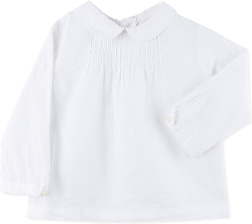 Chemise coulisses blanche