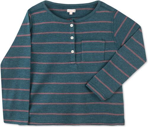 Tee Shirt A Rayures - Vert