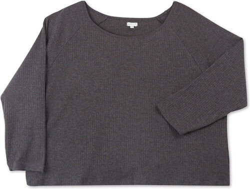 Tee Shirt Large Manches Longues - Gris