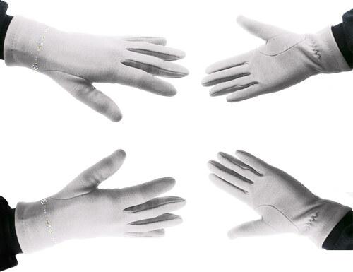 fc0c8de7474 Fashion Icon Dámské elegantní rukavice s ozdobnými kamínky ZR0006-0113