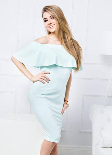 Mätové šaty s volánikmi - 83873 odtiene farieb  zelená - Glami.sk 7a106a97082