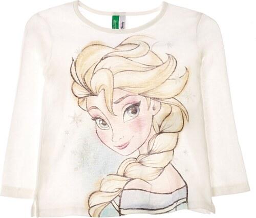 Benetton T-shirt à manches longues en coton - ecru