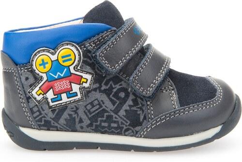 Geox Chlapčenské členkové tenisky s robotom B Each Boy - tmavo modré ... aad90776157