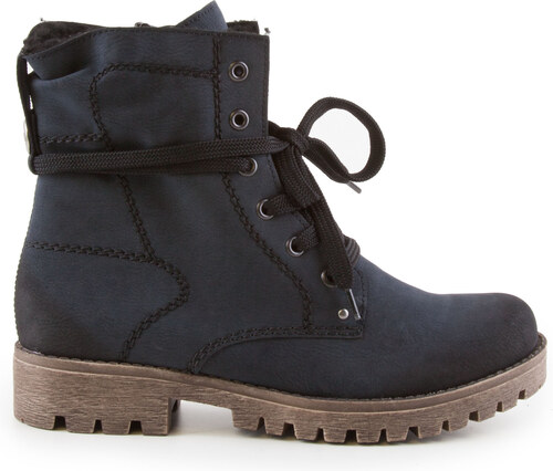 Rieker - Dámské zimní kotníkové boty s hrubou podešví a zipem šíře G  78534-14 f0b3982424d