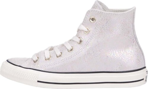 Krémovo-stříbrné dámské kožené tenisky Converse Chuck Taylor All Star d64dcd9f91