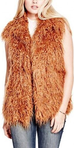 Vesta Guess Arianna Faux-Fur Vest - Glami.cz f7bf21960b