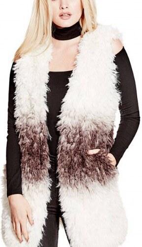 Vesta Guess Shiah Faux-Fur Vest - Glami.cz 5ec02cad7e