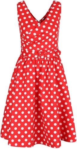 02f3b403fc8c Červené bodkované šaty s véčkovým výstrihom Dolly   Dotty May - Glami.sk