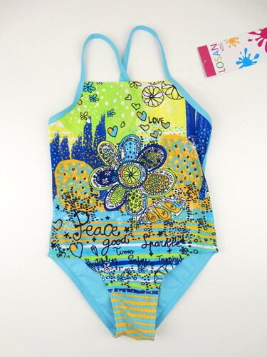 Dětské plavky - jednodílné Fucsia - modré 9d63d8e91d