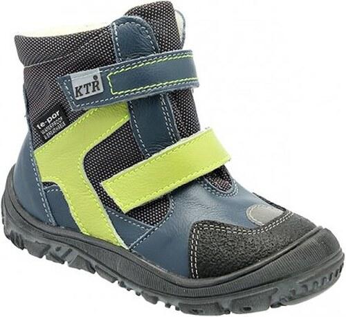 Dětské zimní kotníkové boty KTR 315 modrá - Glami.cz a181845c57