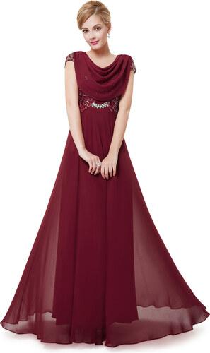 Dámské elegantní Ever Pretty plesové šaty bordo 9989 - Glami.cz 8db8b67582