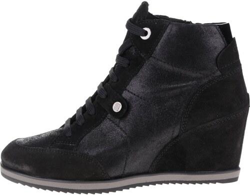 9cbf4fc6db1 Černé dámské semišové sneakers tenisky Geox Illusion A - Glami.cz