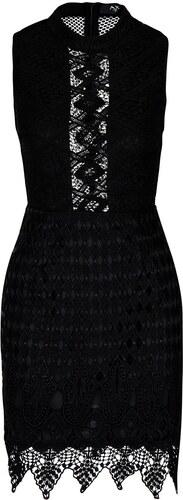 Čierne čipkované šaty s priesvitnou čipkou AX Paris - Glami.sk 305f227081d