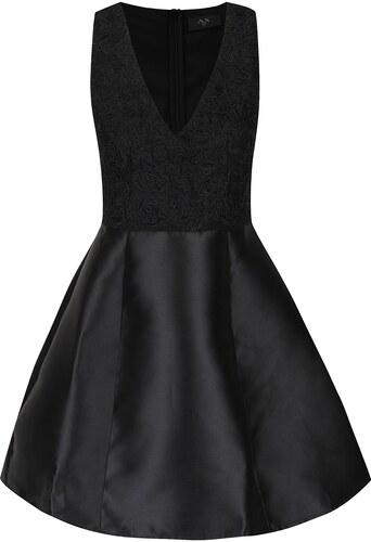 Čierne šaty s čipkou AX Paris - Glami.sk 1237b24c01f