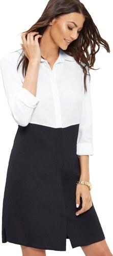 cef189824e30 ELISE RYAN Elegantné čierno-biele košeľové šaty - Glami.sk