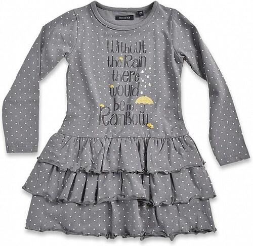Blue Seven Dětské šedé šaty s puntíky Urban Yellow - Glami.cz 6478fbb396b