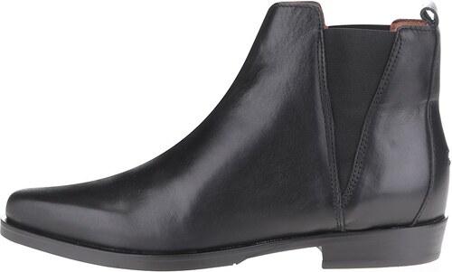 8a1ee76dc7 Čierne dámske kožené chelsea topánky Tommy Hilfiger - Glami.sk