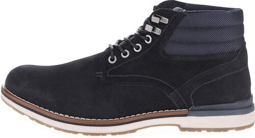 Tmavě modré pánské semišové kotníkové boty Tommy Hilfiger - Glami.cz 1317ef85c7