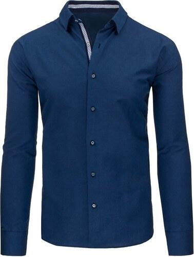 Námořnicky modrá elegantní pánská košile s nášivkami - Glami.cz 1578b881f4