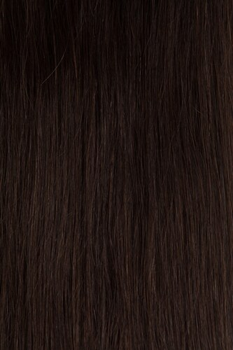 TAPE IN vlasy 20 pásků - 50 cm tmavě hnědá