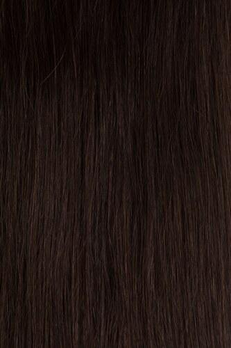 TAPE IN vlasy 40 pásků - 40 cm tmavě hnědá