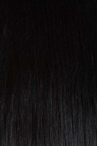 TAPE IN vlasy 20 pásků - 65 cm uhlově černá