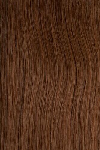 CLIP IN vlasy - set 38 cm oříšková