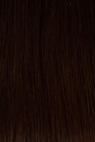 Vlasy s keratinem - 40 cm středně hnědá 50 pramenů