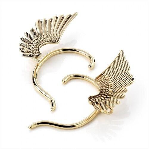 Háček za ucho ve zlaté barvě Wing 27084