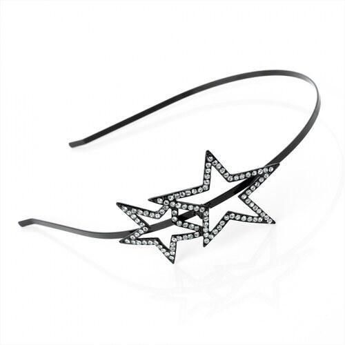 Dámská čelenka Stars 25040 černá