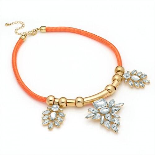 Oranžový náhrdelník Andy 29225