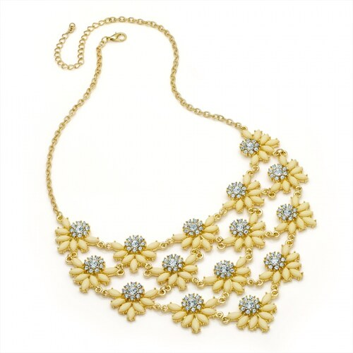 Žlutý náhrdelník Gaya 29242
