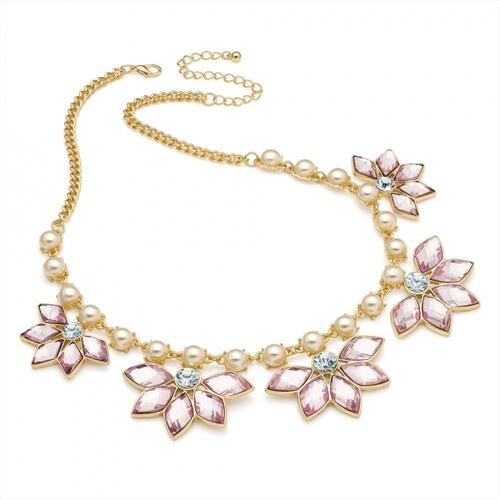 Růžový náhrdelník Romance 29255