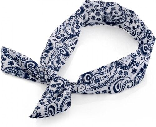 Modrá čelenka do vlasů Paisley 30242 - Glami.cz f196a3d60b