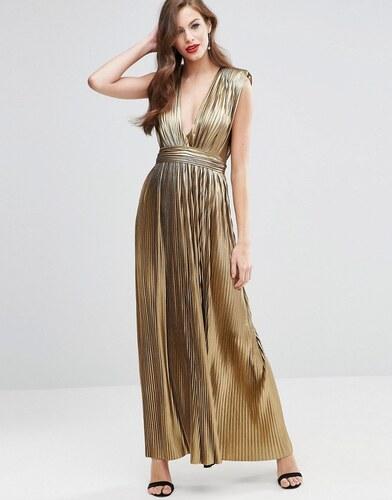 Robe dorée longue   Trendbook 02b2e5d23a70