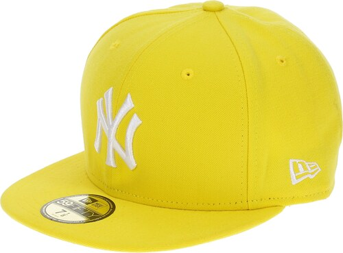 d64e3036bb6 kšiltovka New Era 59F League Basic MLB New York Yankees - Cyber Yellow White