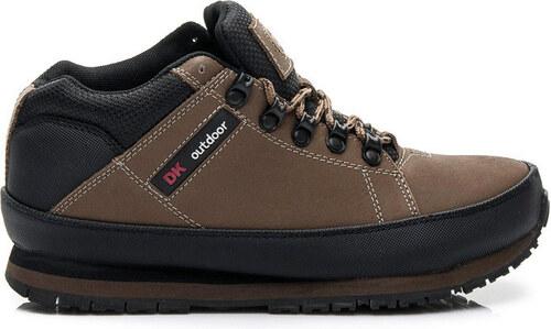 DK Kožené trekingové hnědé boty W03M0488BR   R15D - Glami.cz 16d2c86e64