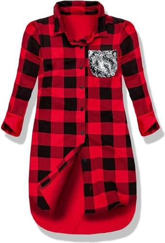 Hemd rot schwarz 9779