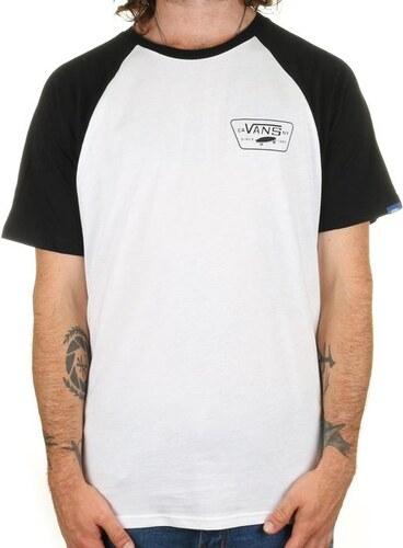 Pánské tričko Vans Full patch SS raglan white black XL - Glami.cz 7e01c1b74c