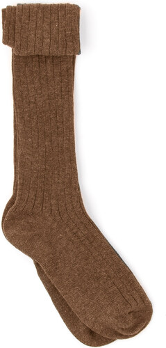 Chaussettes Point Jersey - Camel