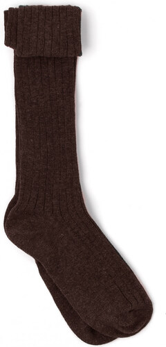 Chaussettes Point Jersey - Gris Taupe