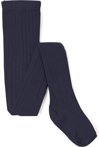 Collants Maille Côtelée Basique - Bleu Marine
