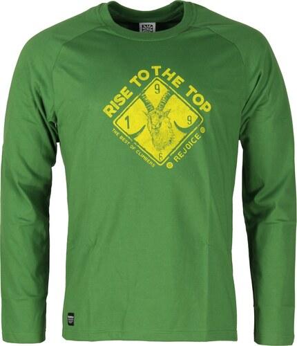 Pánské bavlněné tričko s dlouhým rukáve Rejoice - Lamium (zelené ... e2cc1bc5ec