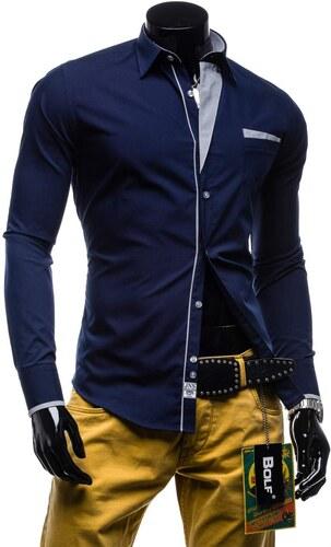 Pánská košile BOLF 4713 tmavě modrá - Glami.cz 28562efe49