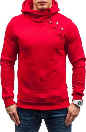 Červená pánska mikina s kapucňou BOLF MARIO - Glami.sk f70c2ecf70