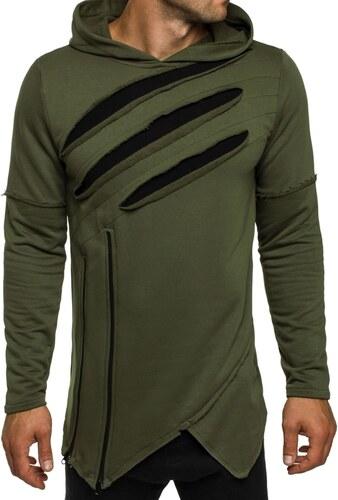 Breezy Moderní zelená mikina v originální designu BREEZY 9097 - Glami.cz 3cd84c81a2