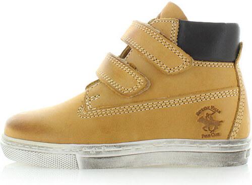 Detské horčicové členkové topánky Beverly Hills Polo Club BH5013 ... b673a2e93e0