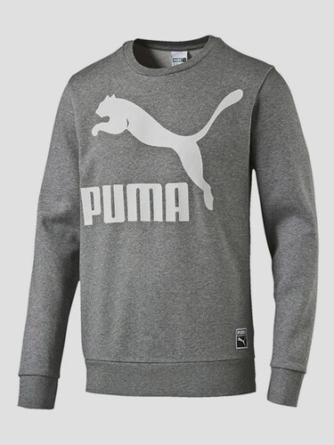 fb04ec6b291 Mikina Puma Archive Logo Crew medium gray heather - Glami.cz