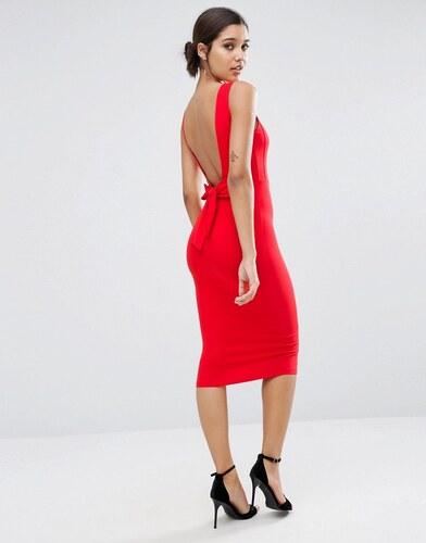 Robe longue fourreau rouge