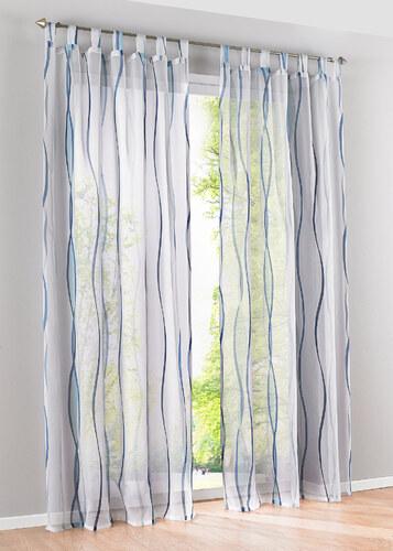 bpc living bonprix voilage vienne fond clair 1 pce bleu pour maison. Black Bedroom Furniture Sets. Home Design Ideas